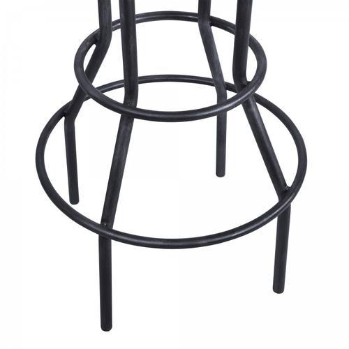 Titan Industrial Adjustable Pub Table in Industrial Grey and Pine Wood Top