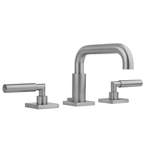Satin Chrome - Downtown Contempo Faucet with Square Escutcheons & Contempo Slim Lever Handles