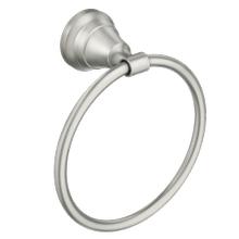 Halle spot resist brushed nickel towel ring