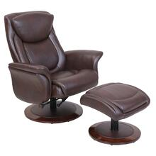 MacKenzie 15-8033 Pedestal Chair and Ottoman