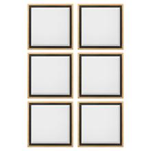 Set of Six Reverse Shadow Box Accent Mirrors
