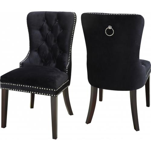 """Nikki Velvet Dining Chair - 23"""" W x 23"""" D x 40"""" H"""