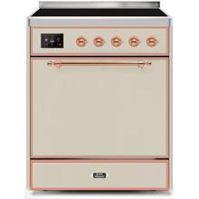 See Details - Majestic II 30 Inch Electric Freestanding Range in Antique White with Copper Trim