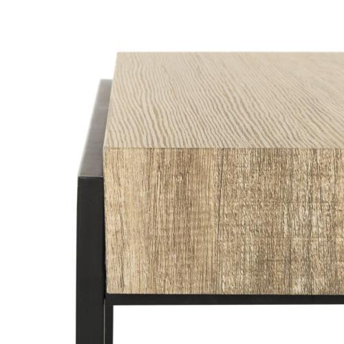Safavieh - Alexander Rectangular Contemporary Rustic Coffee Table - Multi Brown / Black