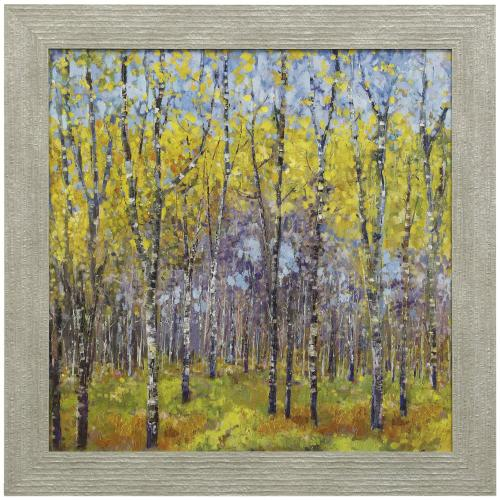 Style Craft - A SPRING DAY  33in w. X 33in ht.  Promotional Textured Framed Print  Made in USA