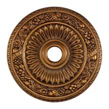 See Details - Floral Wreath Medallion 24 Inch in Antique Bronze Finish