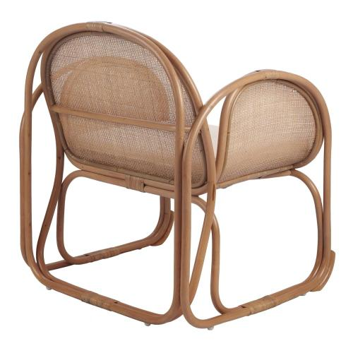Massa Rattan Accent Chair, Canary Brown