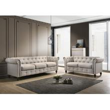 9105 2PC Traditional Tufted Living Room SET