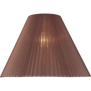 "Burgundy Pleated Fabric Shade - 6""tx16""bx12""h"