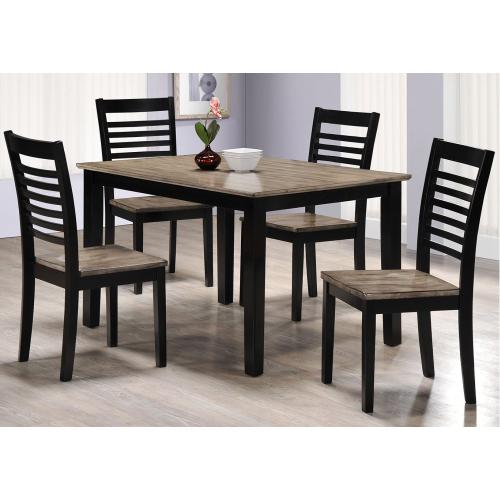 5014 East Pointe 5-Piece Two-Tone Dining Set