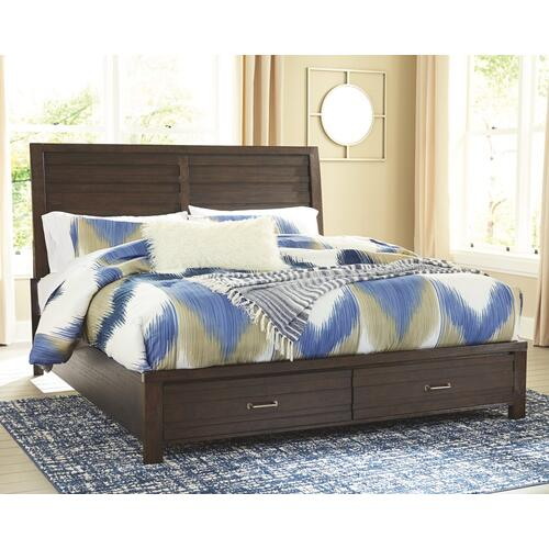 Darbry Queen Panel Bed With 2 Storage Drawers