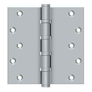 "6"" x 6"" Square Hinges, Ball Bearings - Brushed Chrome"