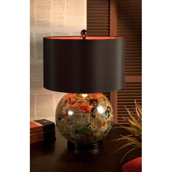 Arabela Magazine Collage Table Lamp