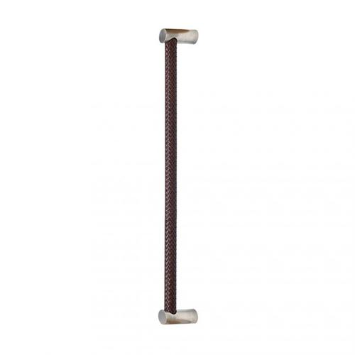 """Leather Grip (G174) - 25 1/2"""" Silicon Bronze Brushed with Black Leather"""