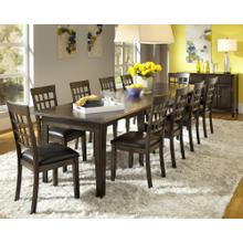 11 Piece Dining Set (Vers-A-Table and 10 Side Chairs)