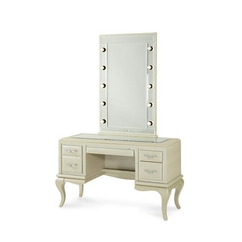 After Eight Pearl Croc Vanity/Desk & Mirror