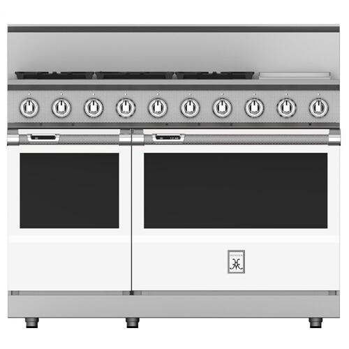 "48"" 5-Burner Dual Fuel Range with 12"" Griddle - KRD Series - Froth"