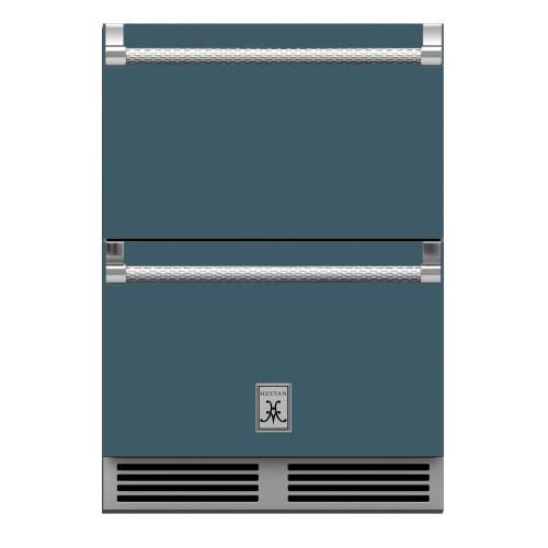 "24"" Hestan Outdoor Refrigerator Drawers - GRR Series - Pacific-fog"