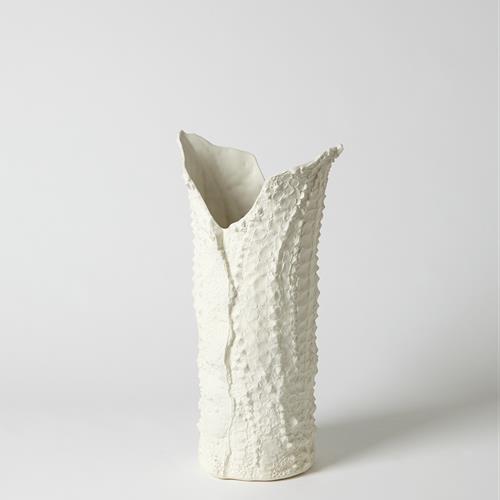 Crocodile Vase-Matte White-Med