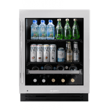 Product Image - 24 Inch Stainless Glass Door Right Hinge ADA Height Undercounter Beverage Center