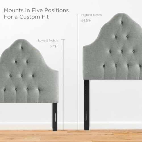 Modway - Sovereign Twin Upholstered Fabric Headboard in Gray