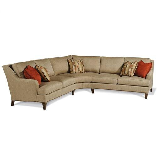 BECKHAM TWO PIECE WEDGE SECTIONAL