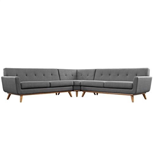 Engage L-Shaped Sectional Sofa in Gray