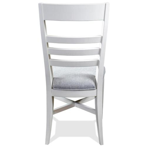Osborne - Upholstered Ladderback Side Chair - Winter White Finish
