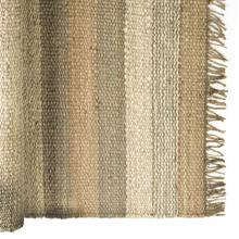 Dolomite 8 x 10 Jute Multi-Colored Braided Fringe Edge Rug