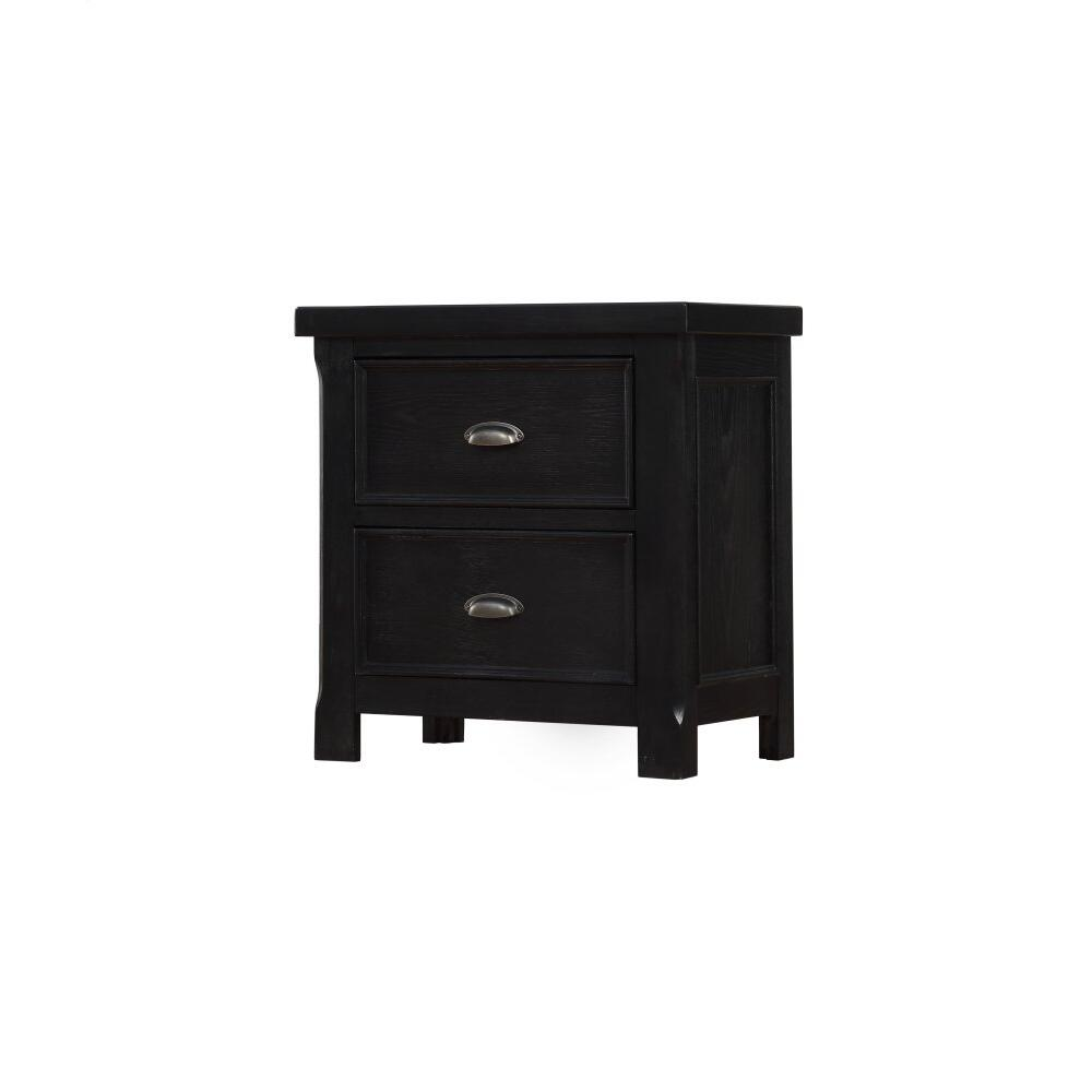 Emerald Home Warwick 2 Drawer Nightstand Cracked Pepper B836-04