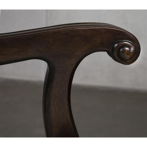 Rosemoor - Upholstered Splat Back Arm Chair - Burnt Caramel Finish