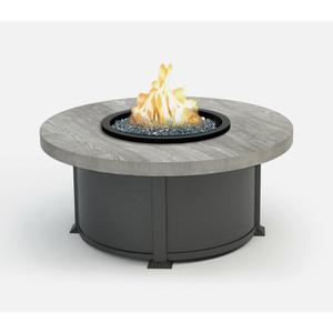 """42"""" Round Coffee Fire Pit Ht: 19"""" Valero Aluminum Base (Top Color: Drift Frame Finish: Carbon)"""