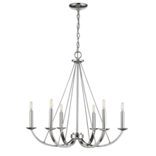 Vivio- Kaila 6-Light Chandelier- Polished Nickel Finish