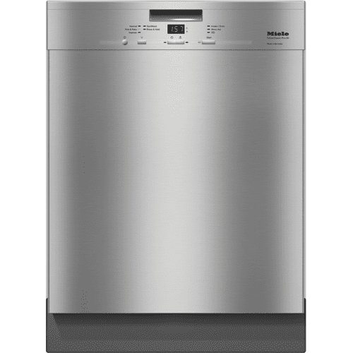 Pre-finished, full-size dishwasher with visible control panel, cutlery tray and 5 Programs