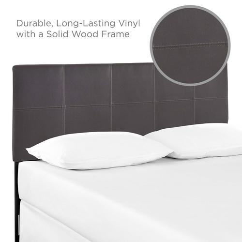 Modway - Oliver Queen Upholstered Vinyl Headboard in Brown