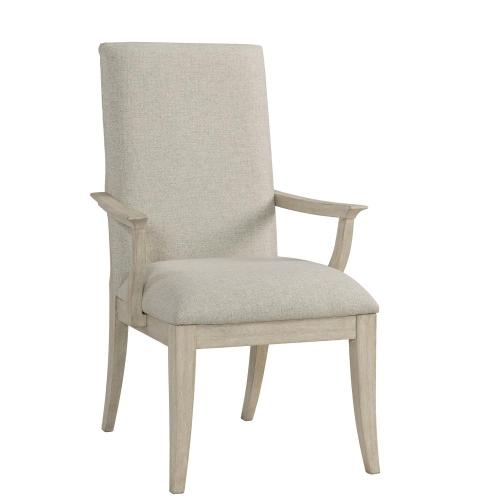 Lilly - Upholstered Arm Chair - Champagne Finish