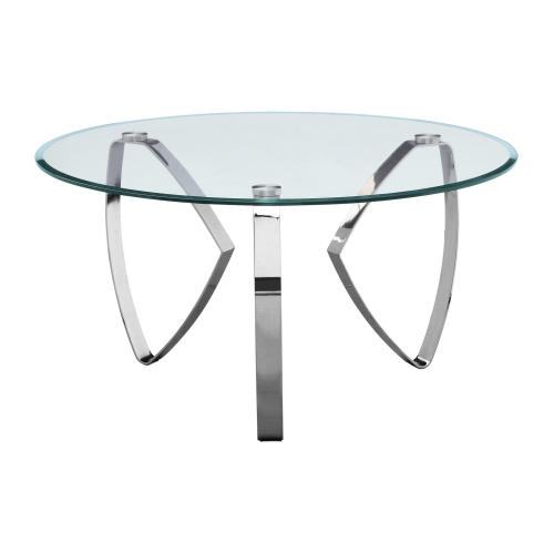Product Image - Hollywood Nickel Tri Leg Round Cocktail Table
