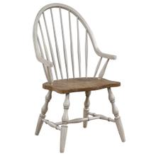 Product Image - Windsor Dining Chair with Arms - Distressed Gray & Brown