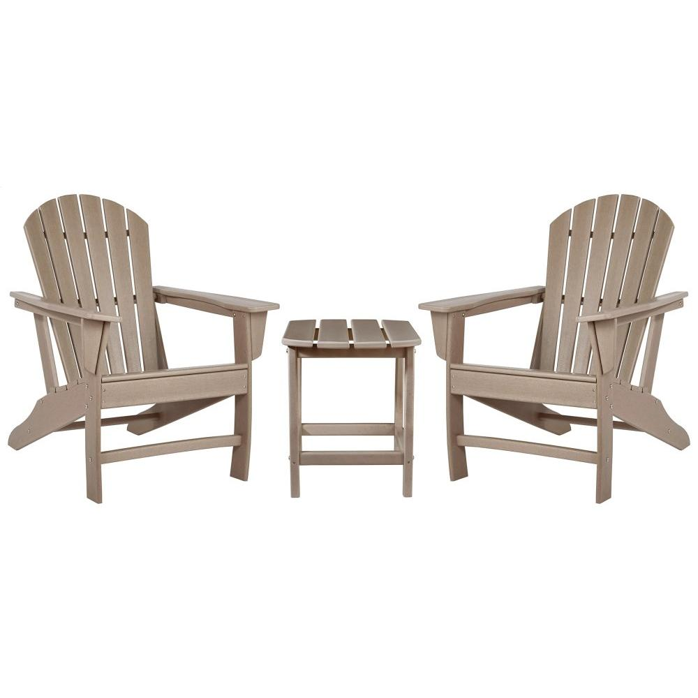 See Details - 2 Outdoor Chairs With End Table