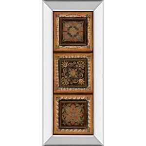 """""""Folk Art Panel Il"""" By Tava Studios Mirror Framed Print Wall Art"""