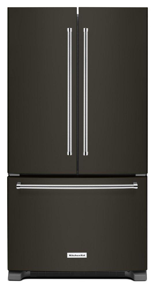 KitchenAid25 Cu. Ft. 36-Width Standard Depth French Door Refrigerator With Interior Dispense - Black Stainless Steel With Printshield™ Finish