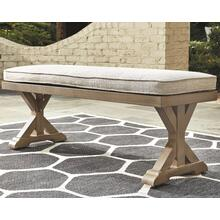 View Product - Beachcroft Bench With Cushion Beige