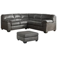 Bladen Grey 3PC Package: Sectional w/ Ottoman (12001)
