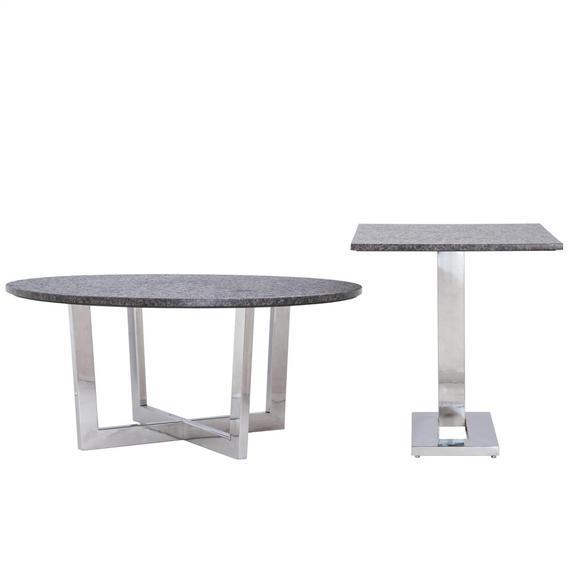 Riverside - Round Coffee Table Top - Polished Chrome Finish