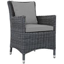 Summon Dining Outdoor Patio Sunbrella® Armchair in Canvas Gray