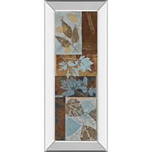 """Blue Fusion Panel Il"" By Jeni Lee Mirror Framed Print Wall Art"