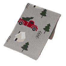 Red Truck with Christmas Tree Knit Throw