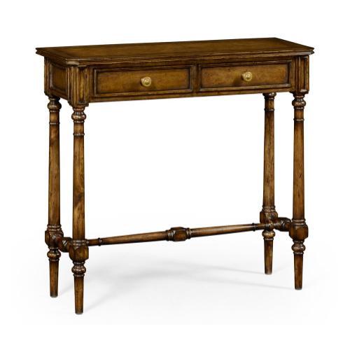 Victorian style walnut console