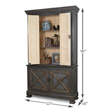 See Details - Painted Directoire Style Bookcase