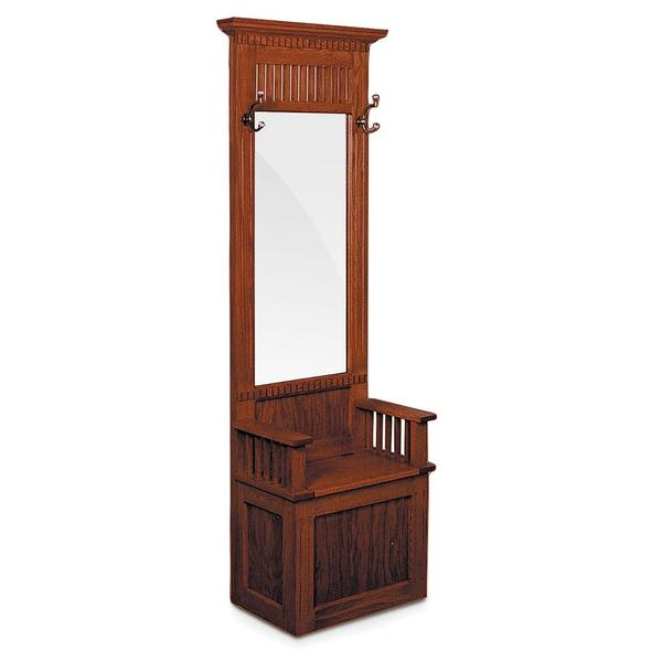 See Details - Mission Hall Seat with Beveled Mirror